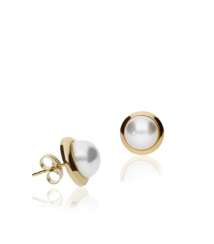 """Pendientes """"Karen"""" Oro 18k y perlas cultivadas"""