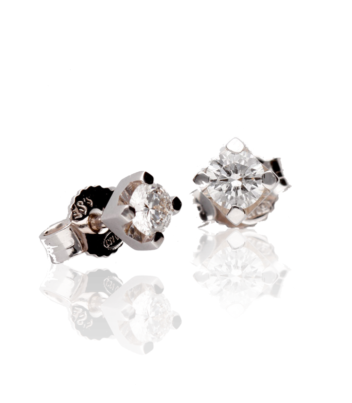 "Pendientes ""Margot"" de Oro blanco y diamantes"