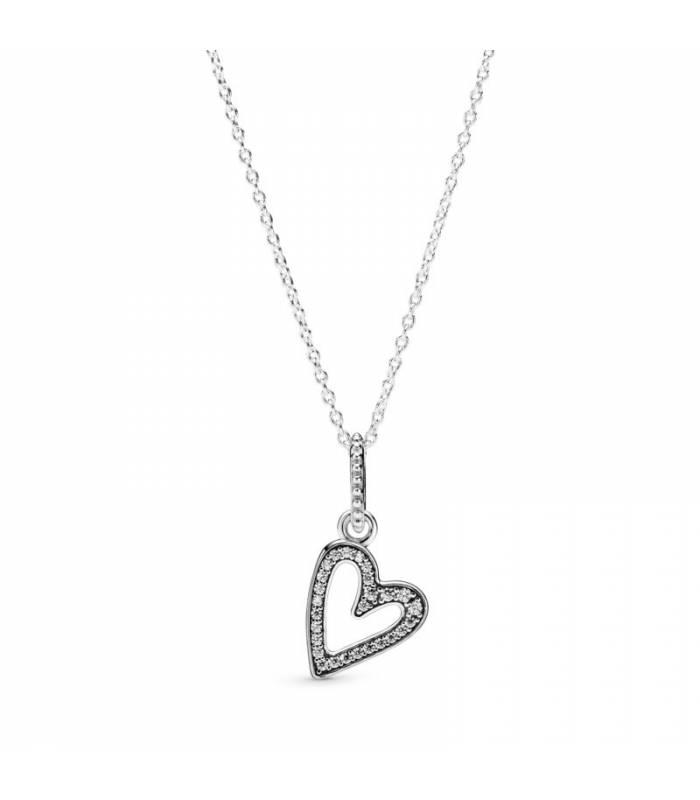 Collar en plata de ley Corazón Brillante 398688C01 - 50