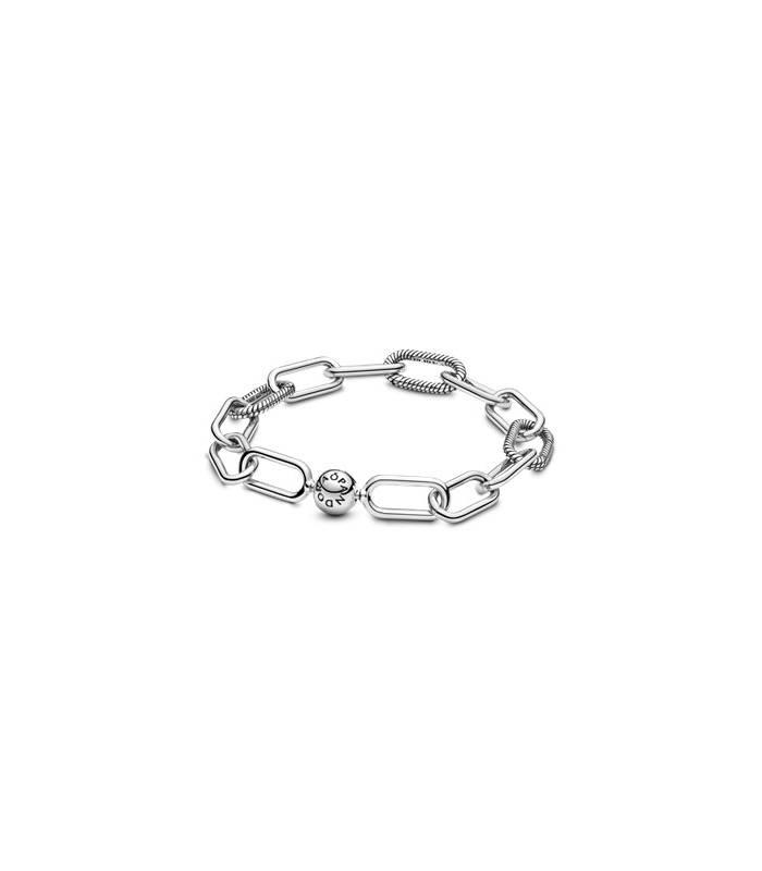 Pulsera eslabones Pandora Me en plata de ley 598373 - 5