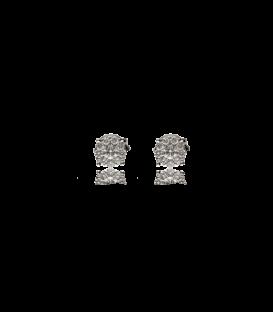 Pendientes de Oro blanco con diamante compuesto