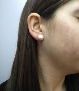 Pendientes perlas en oro 18k