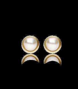 """Pendientes """"Lissa"""" de bebé de oro 18K y perlas"""
