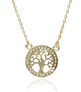 "Collar ""Tree of life"" de plata bañada"