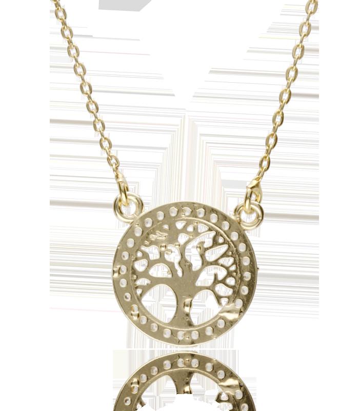 """Collar """"Tree of life"""" de plata bañada"""