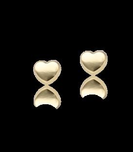 """Pendientes """"Coeur"""" de oro lisos"""
