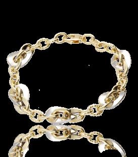 """Pulsera """"Chains"""" de oro bicolor 18K"""
