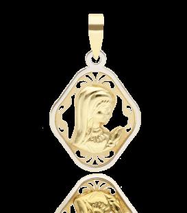 Medalla oro bicolor Virgen