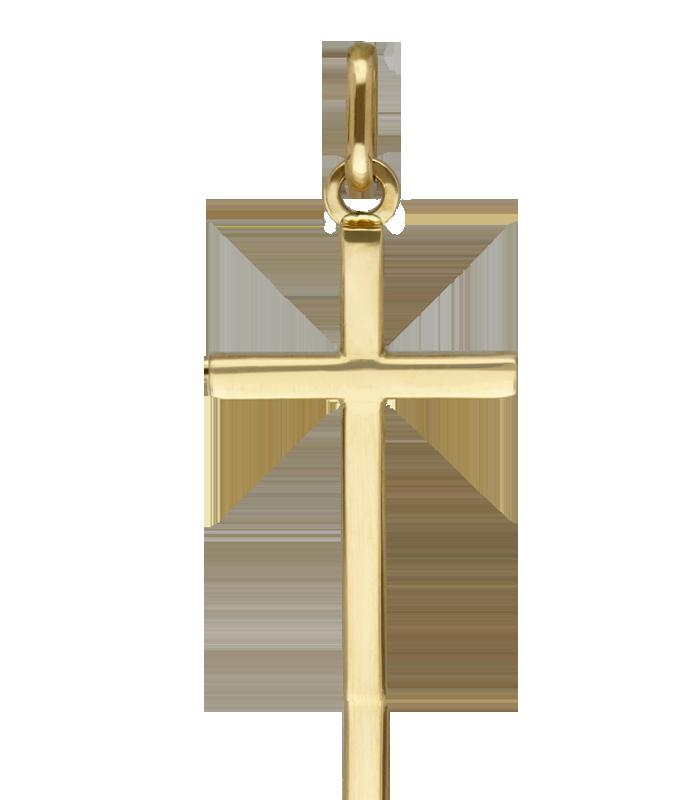Colgante Cruz de Oro Lisa