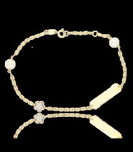 """Pulsera """"Camila"""" Oro 18k. y perlas cultivadas"""