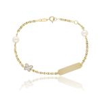 """Esclava """"Mariposas"""" Oro 18k y Perlas Cultivadas"""