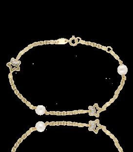"""Pulsera """"Tanit"""" Oro 18k. y perlas cultivadas"""