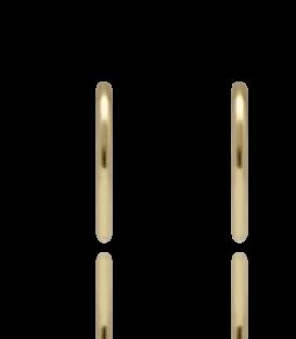 Aritos ligeros de oro amarillo