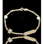 """Pulsera """"Lully Bear"""" Oro 18k y perlas cultivadas"""
