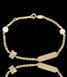 """Pulsera """"Lully"""" Oro 18k. y perlas cultivadas"""