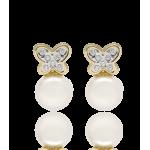 """Pendientes """"Mariposas"""" oro 18k Perlas Cultivadas"""