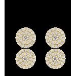 """Pendientes """"Rossetti Pro"""" oro 18k y circonitas"""