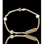 "Esclava ""Magical"" oro 18k Perlas Cultivadas"