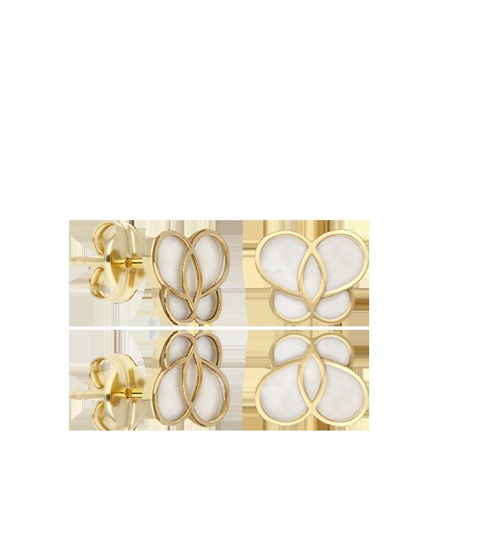 Pendientes Mariposa Oro y Nácar