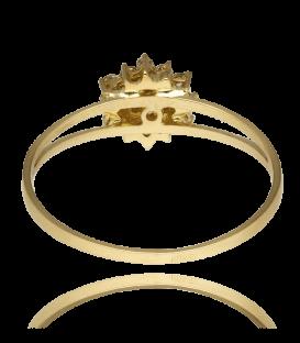 """Anillo """"Rossetti"""" de Oro 18k y circonita"""