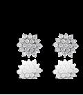 Pendientes Oro blanco 18k y circonitas