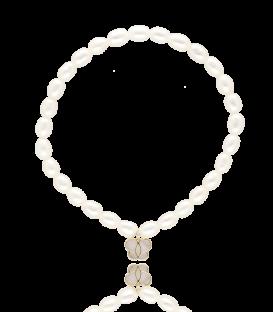 """Pulsera de perlas """"Farfalle"""" en oro y nácar"""