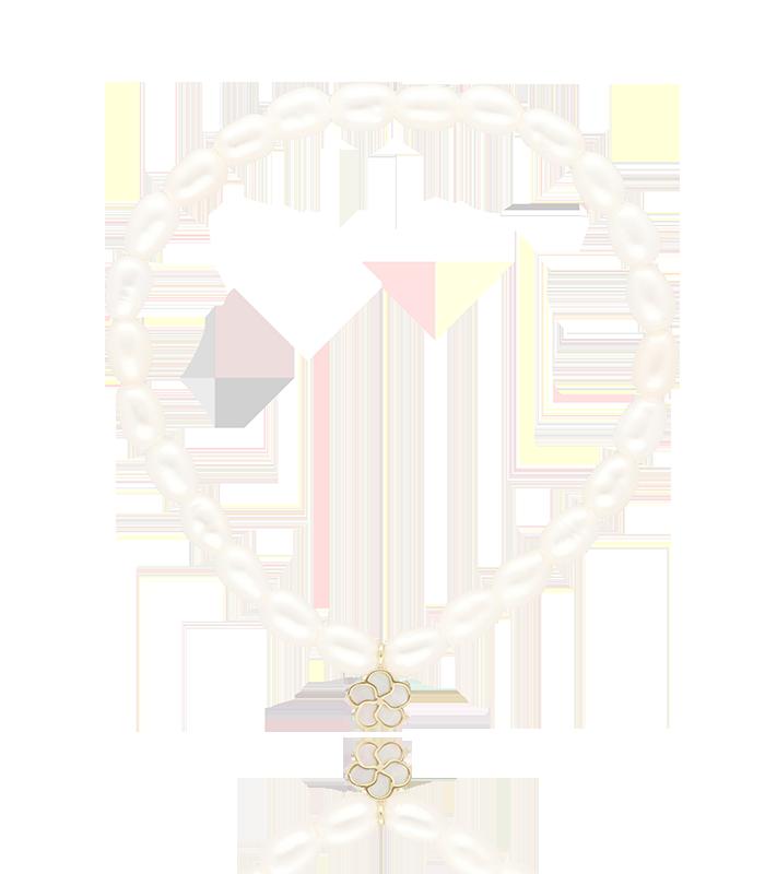 """Pulsera de perlas """"Margherite"""" en oro y nácar"""