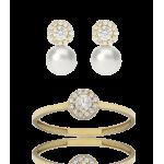"Conjunto ""Ice Star Pearl"" oro 18k perlas cultivadas"