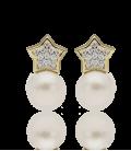 """Pendientes """"Sparkle"""" oro 18k con circonitas"""