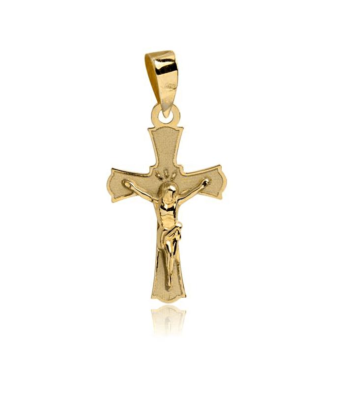 Cruz pequeña Oro 18k con Cristo