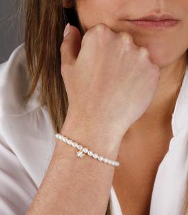 """Pulsera """"Pearls"""" de perlas, oro 18k. y nacar"""