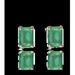 """Pendientes """"Green Dream"""" Oro 18k y Esmeralda"""
