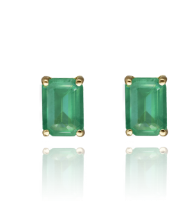 "Pendientes ""Green Dream"" Oro 18k y Esmeralda"