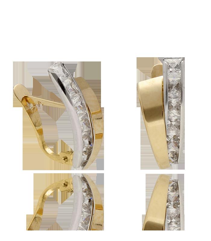 Pendientes entrelazados Oro bicolor 18k