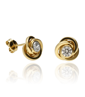 "Pendientes ""Circle"" Oro Amarillo 18k"