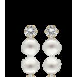 """Pendientes """"Terre"""" Oro 18k Perlas Cultivadas"""