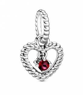 Charm Corazón Pandora en Rojo oscuro