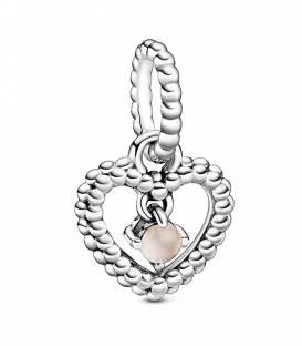 Charm Corazón Pandora en Rubor Rosa