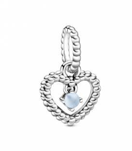 Charm Corazón Pandora en Azul Cielo