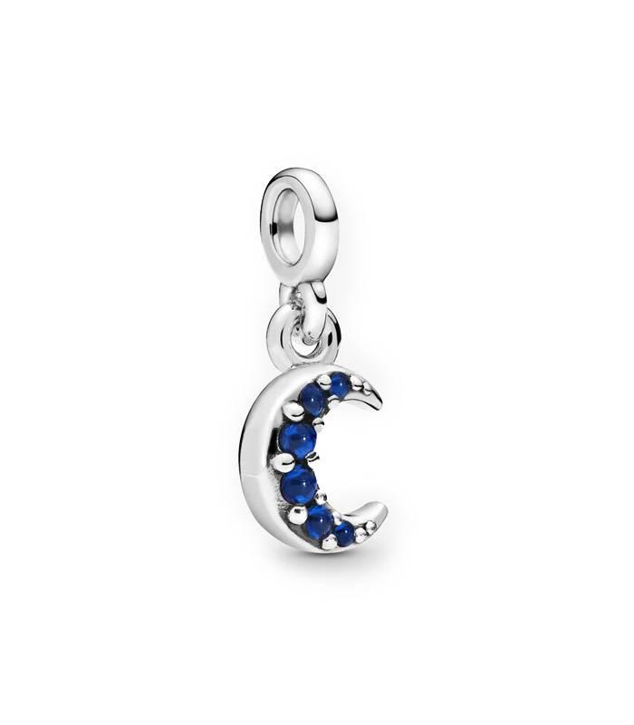 Charm Pandora Luna y Cristales azules 798375NBT