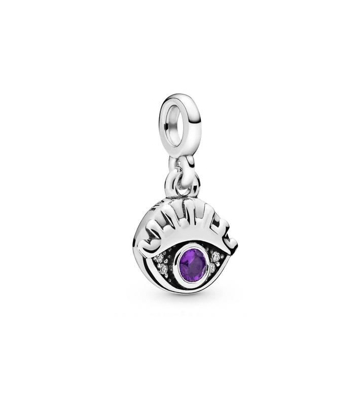 Charm Pandora ojo cristal morado 798394NRP