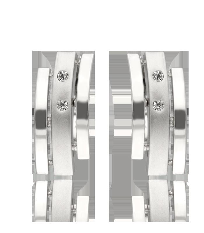 pendientes oro blanco 18k con circonitas