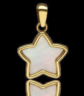 """Colgante """"Estrella de Nacar"""" Oro 18k y Nacar"""