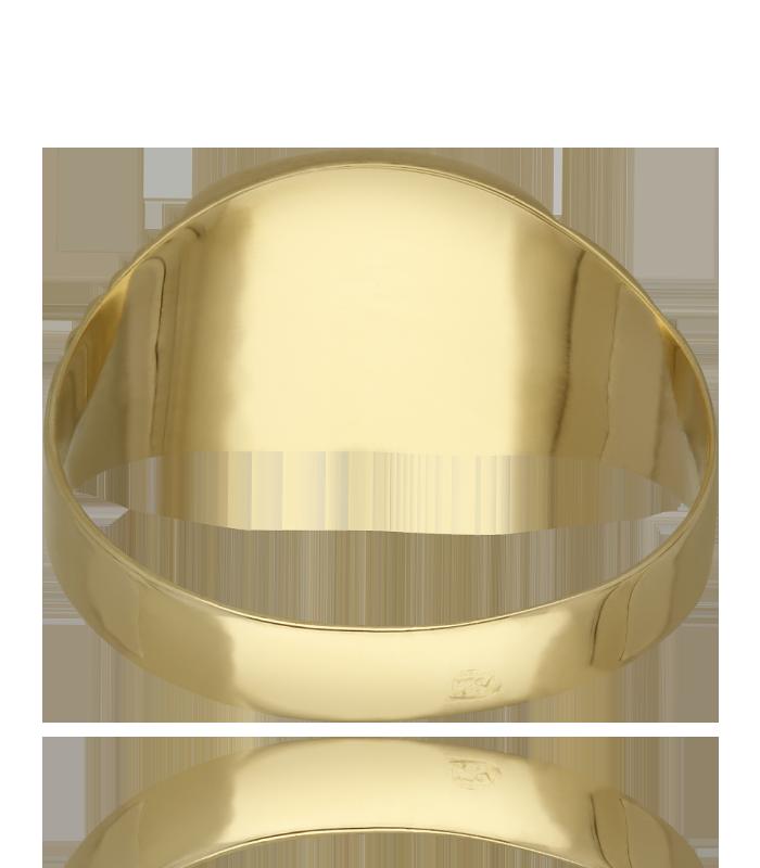 Sello de oro 18k tallado para niño