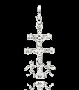 Cruz Caravaca con Cristo en Plata