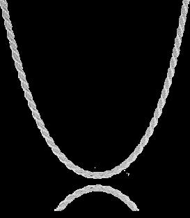 Cadena Cordón Salomónico Fino en Plata