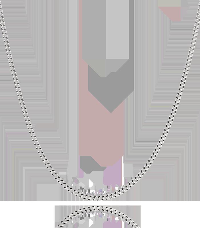 Cadena de plata 45cm Eslabones