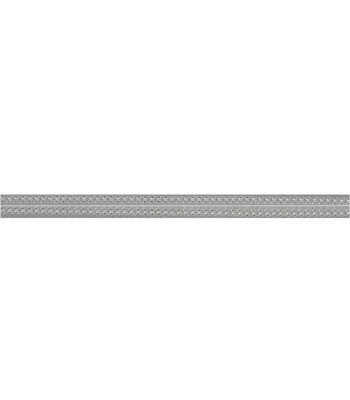 Cadena Barbada en Plata de Ley 45cm