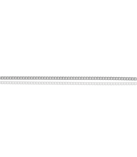 "Cadena Barbada ""Mistic"" en Plata de Ley 35x45 cm"