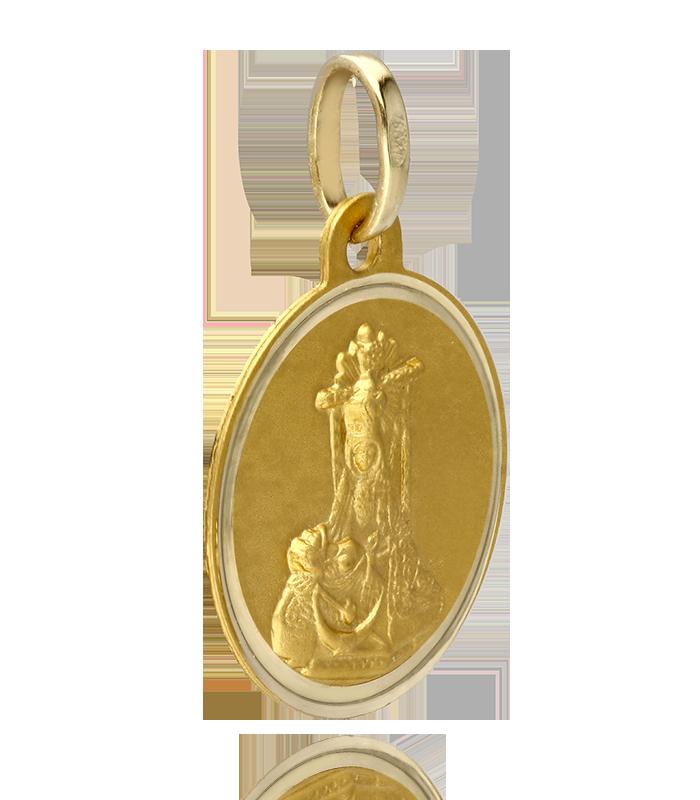 Medalla Virgen de las Angustias Oro18k